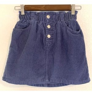 Zara Kids blue corduroy button skirt size 11 - 12